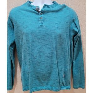 Lions Crest By English Laundry Teal Striped Shirt